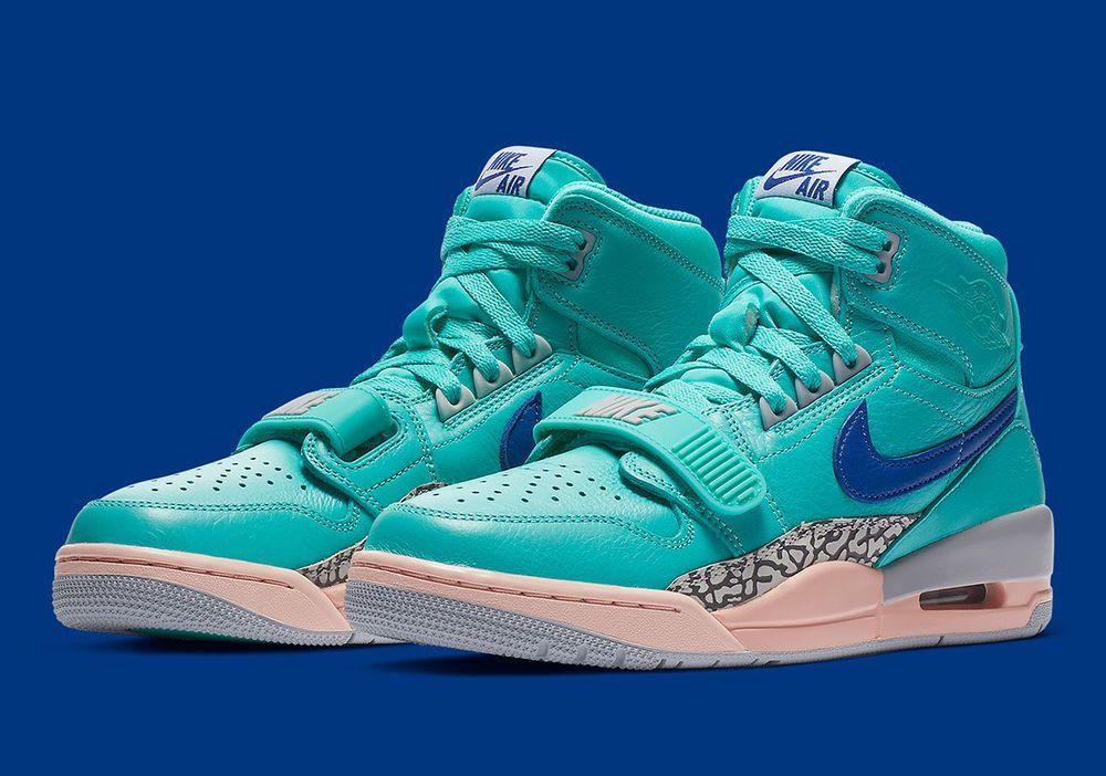 new concept 8b7d9 dd0e5 Nike Air Jordan Legacy 312 NRG Just Don C Hyper Jade Bright Blue AV3922-348   Nike  BasketballShoes