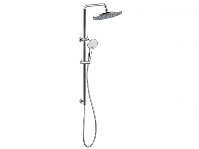 Mizu Drift Twin Waterrail With 300 Brass Overhead From Reece Bathroom Items Brass Shower
