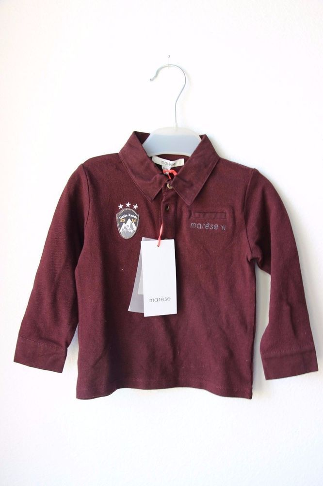 New Baby Boy Sleeve Pique Polo Marese Long Sleeve 18 Months