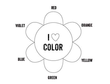 Printable Color Wheel  Mr Printables  Preschool Ideas