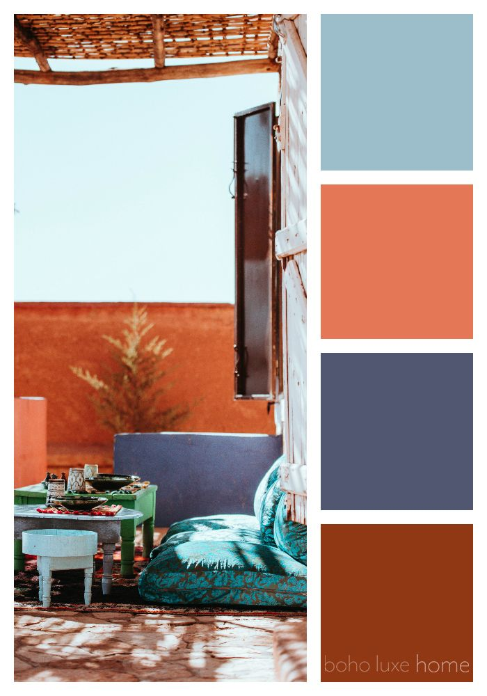 40 Color Palettes Inspired by Morocco - SmithHönig