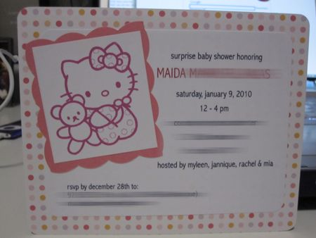 ayuda con baby shower de hello kitty