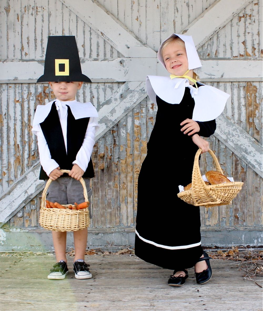 Tutorial pretend pilgrim costumes made i made this last night diy costumes solutioingenieria Images