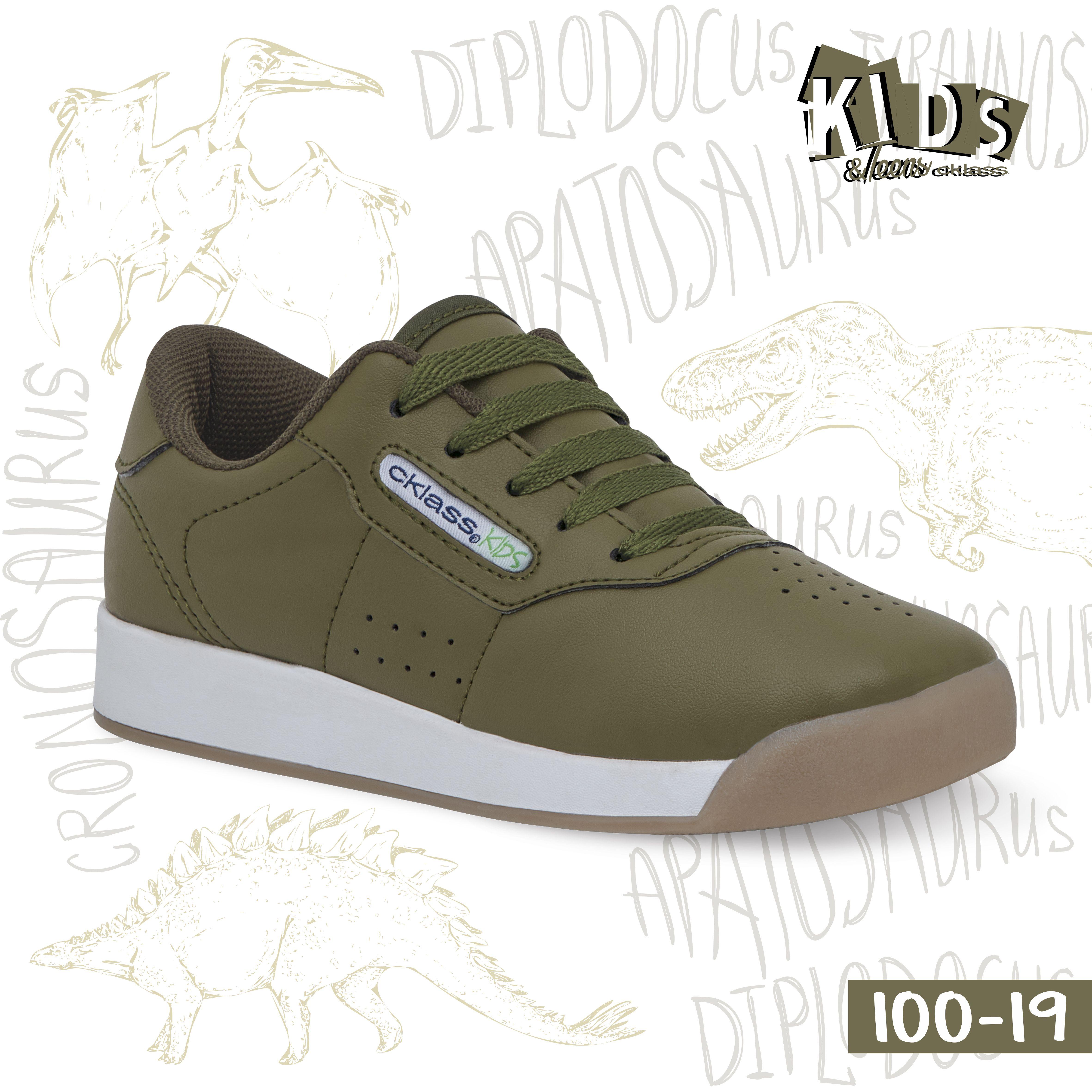 finest selection 8a0b5 309b5 Tenis casual color verde militar con suela gruesa blanca y agujetas. Modelo  100-19