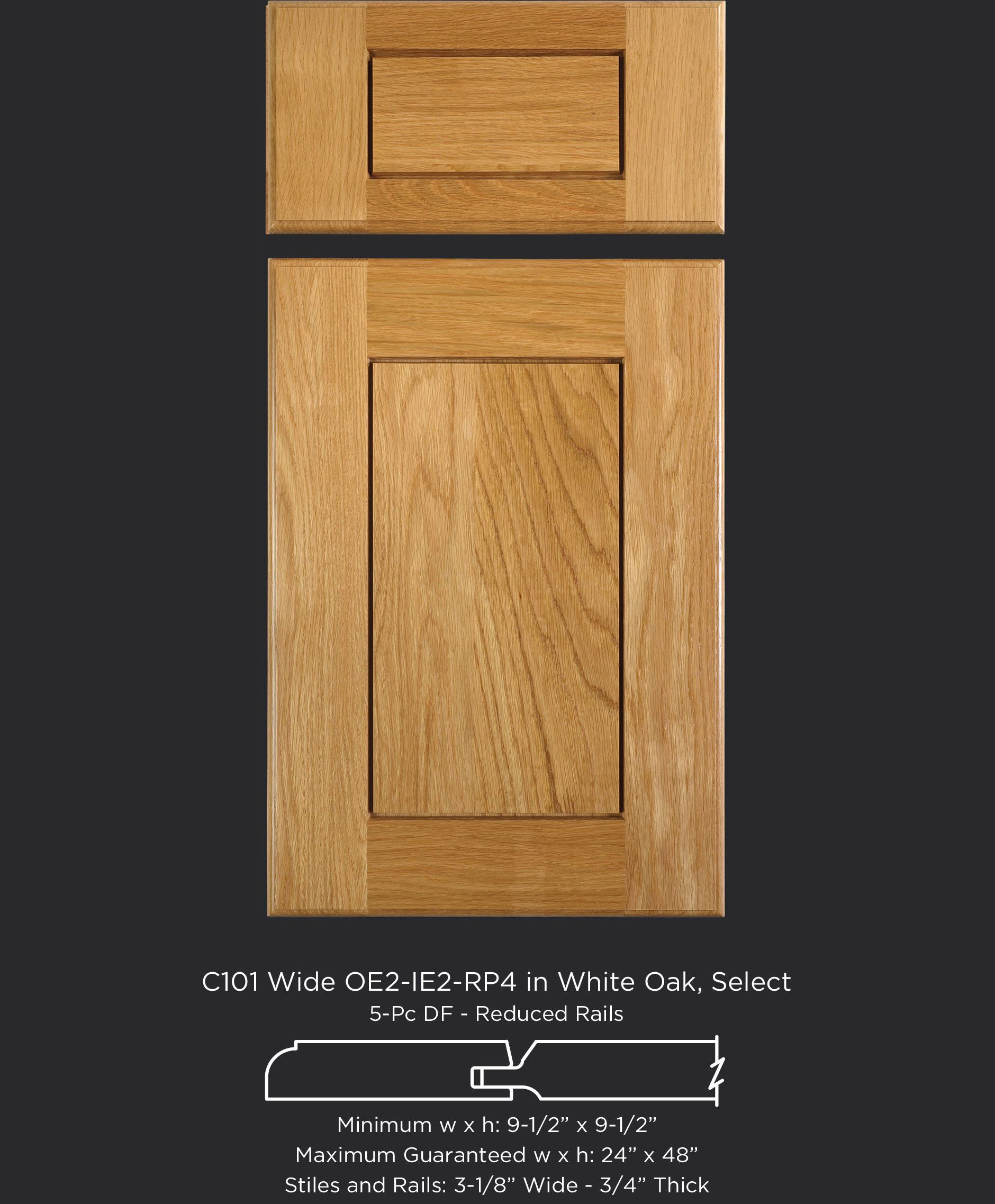 Modern Take On The Shaker Cabinet Door With Raised Panel In White Oak By Taylorcraft Cabinet