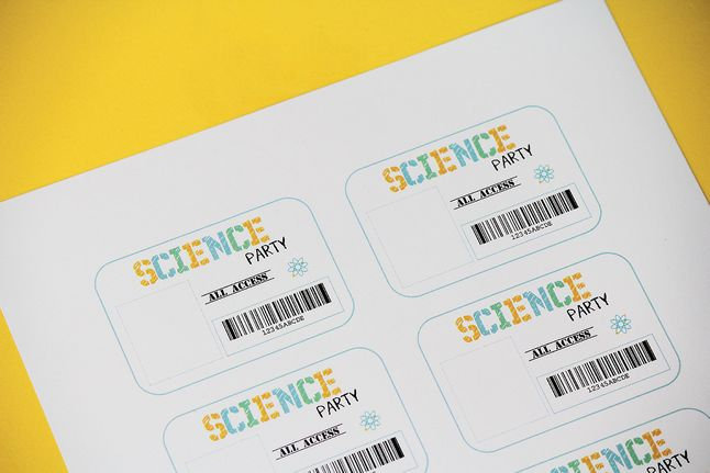 Science Tags: Science Party Printables . Birthday Party . PBS Parents