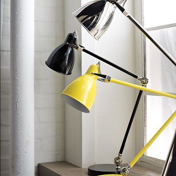 I need a new lamp and have always loved the industrial style of Luxo and Anglepoise, but considering my budget, this desk lamp might do. $79