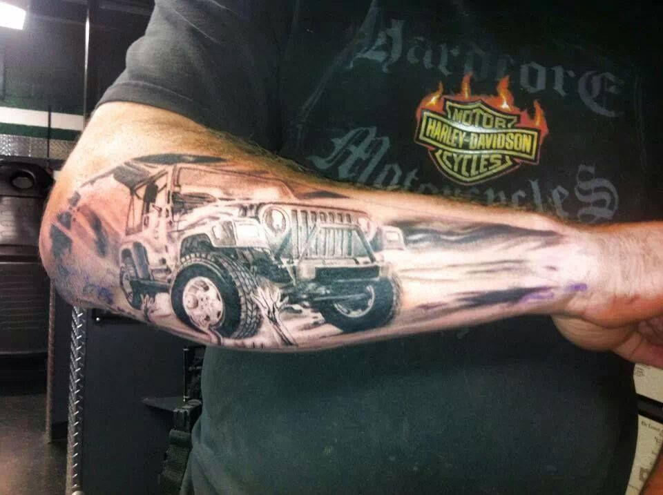 Jeep Tattoo Sleeve