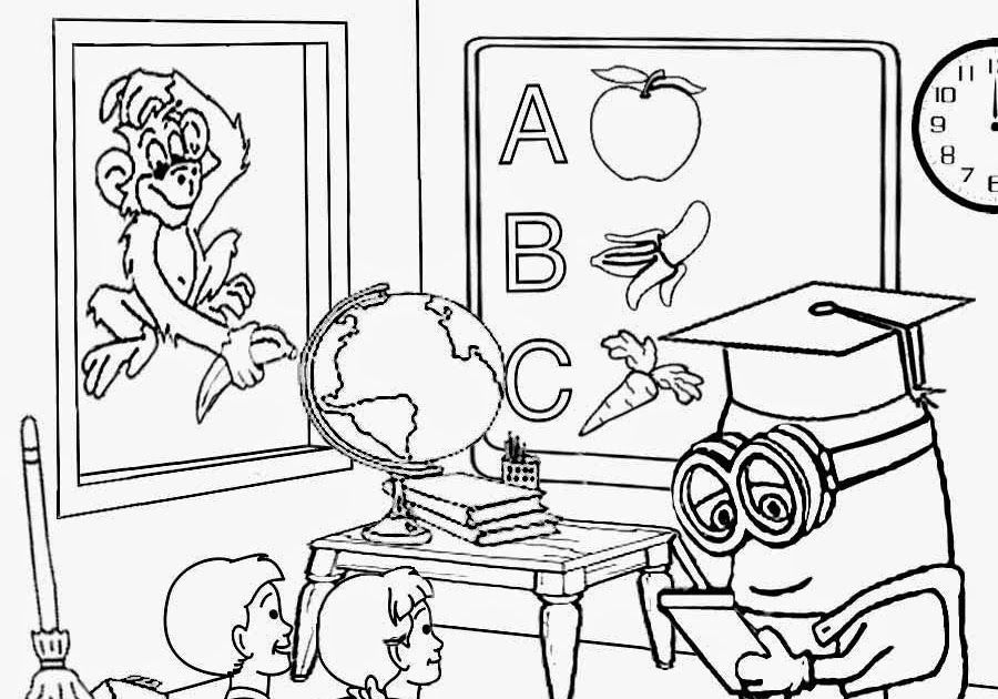 School Classroom Clipart Black And White Classroom Clipart Black And White C Black C Minion Coloring Pages Free Coloring Pages Minions Coloring Pages