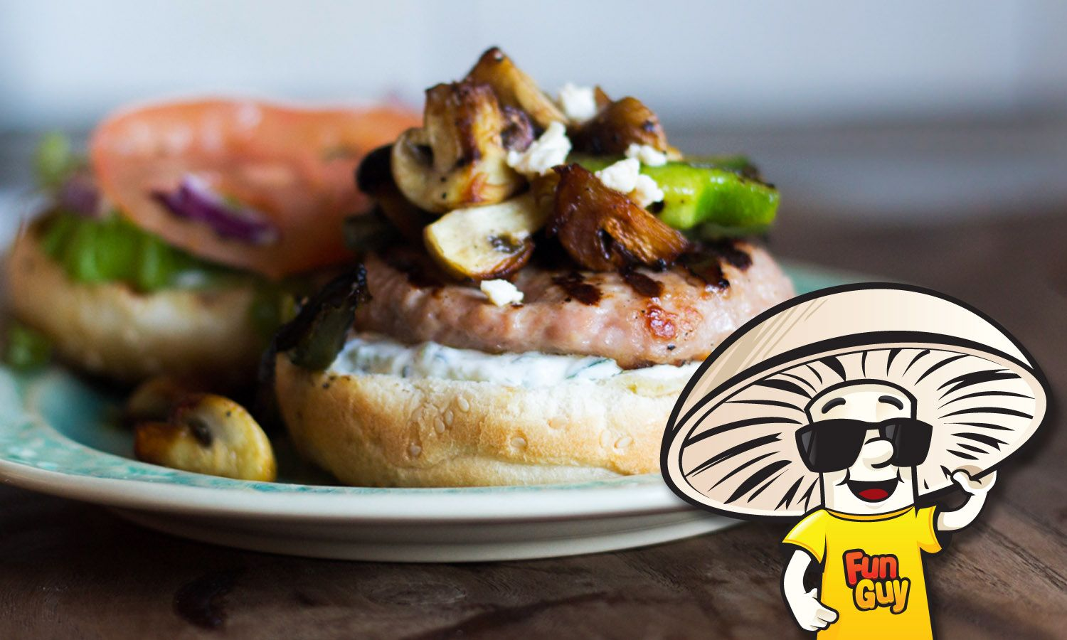 #FunGuy tames that hunger with something beyond just fresh and healthy, a lemon chicken burger that will have everyone calling for you to tzatziki it again!