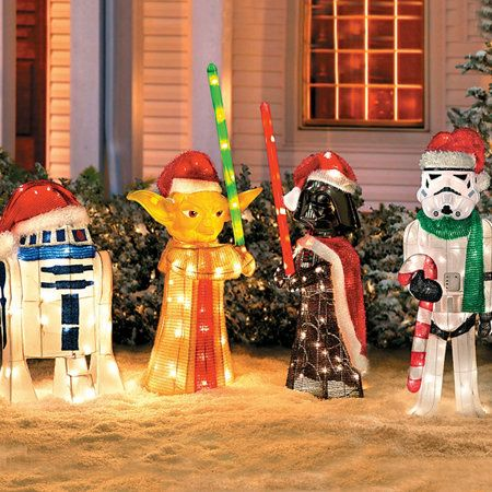 star wars holiday decor i need this in my yard right now