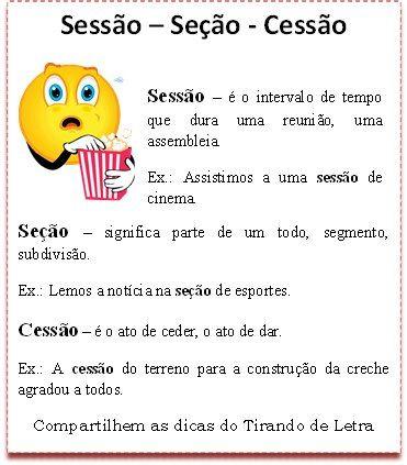 Sessão, Seção ou Cessão? #dicas #portugues #linguaportuguesa