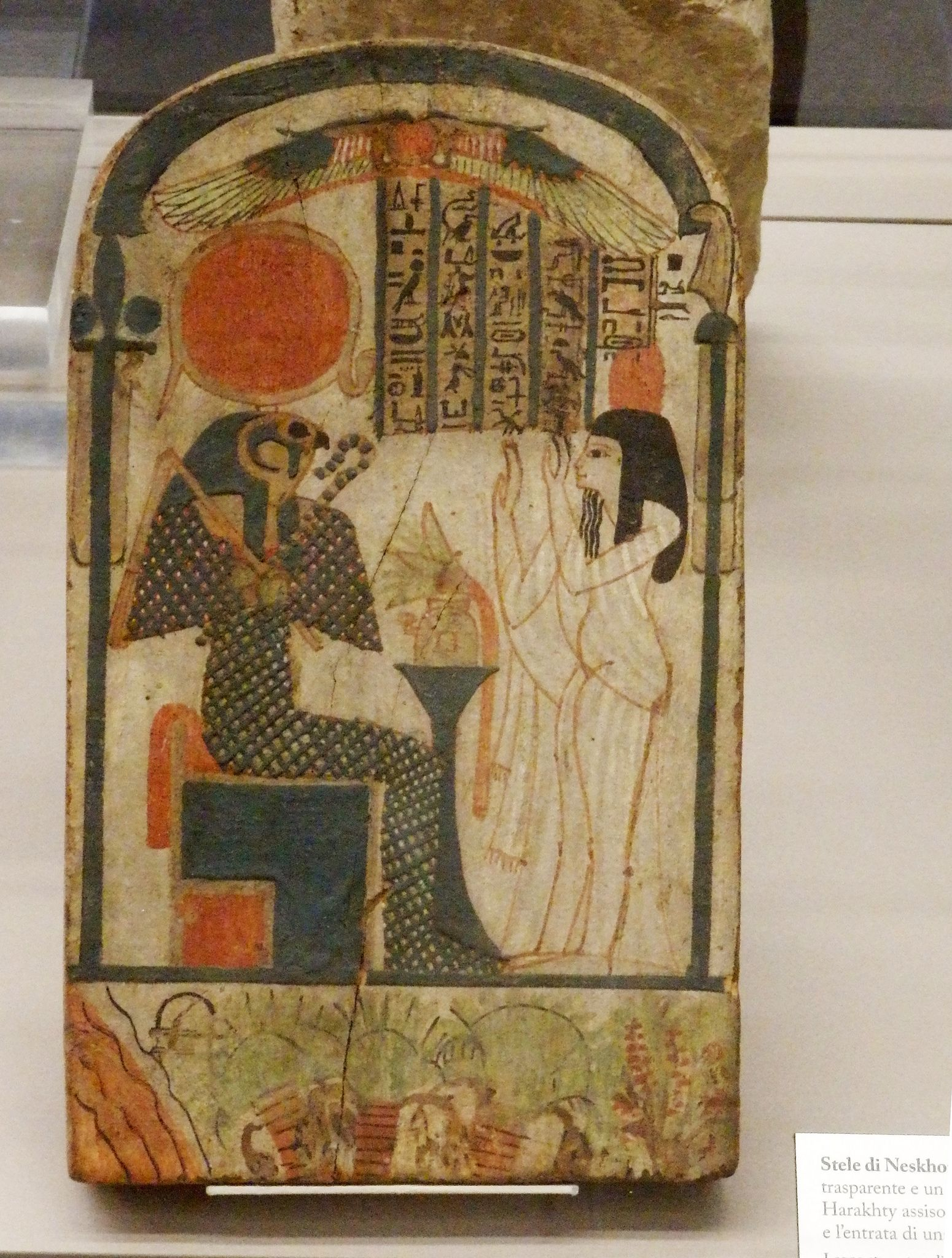 Torino   Il Museo Egizio : la stela della signora Neskhons