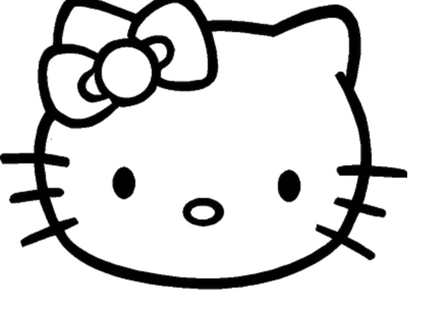 Hello Kitty Face Coloring Page | Baylee | Pinterest ...