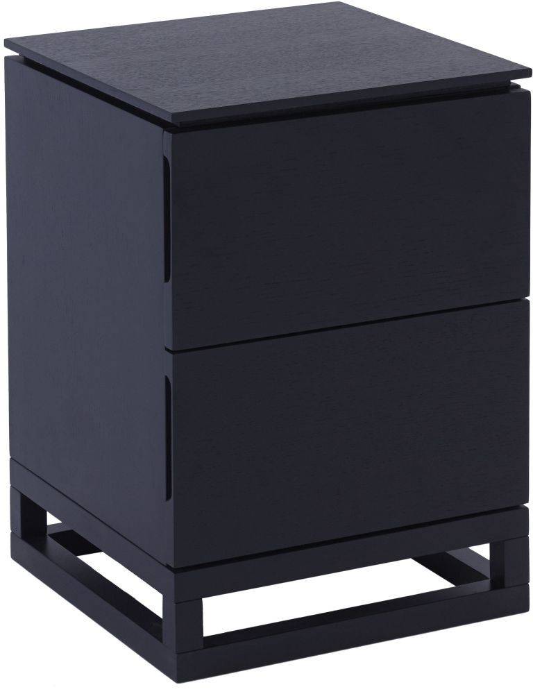 Islington Black 2 Drawer Small Bedside Cabinet In 2020 Bedside Chest Bedside Drawers Dark Wood Bedside Table