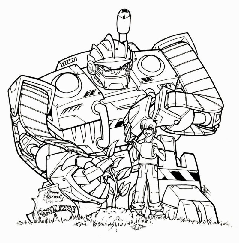 Transformer Rescue Bots Coloring Pages More