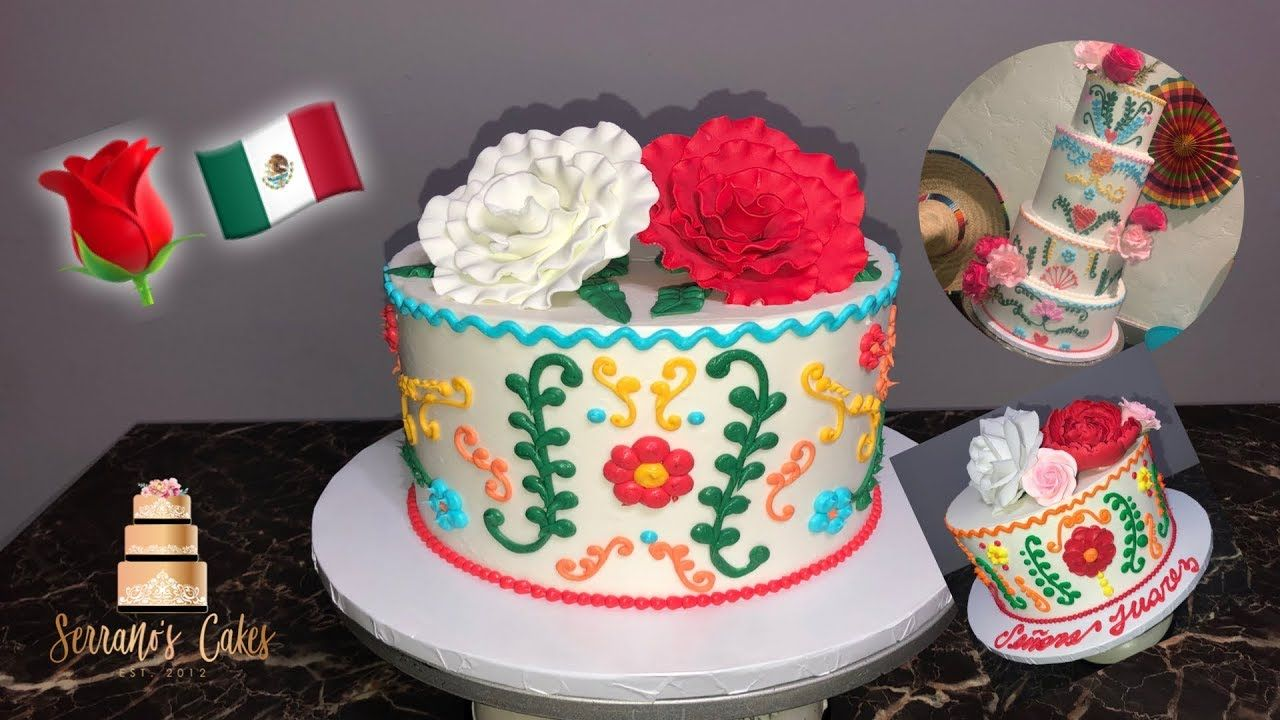 EASY MEXICAN FIESTA CAKE PIPED YouTube Mexican cake