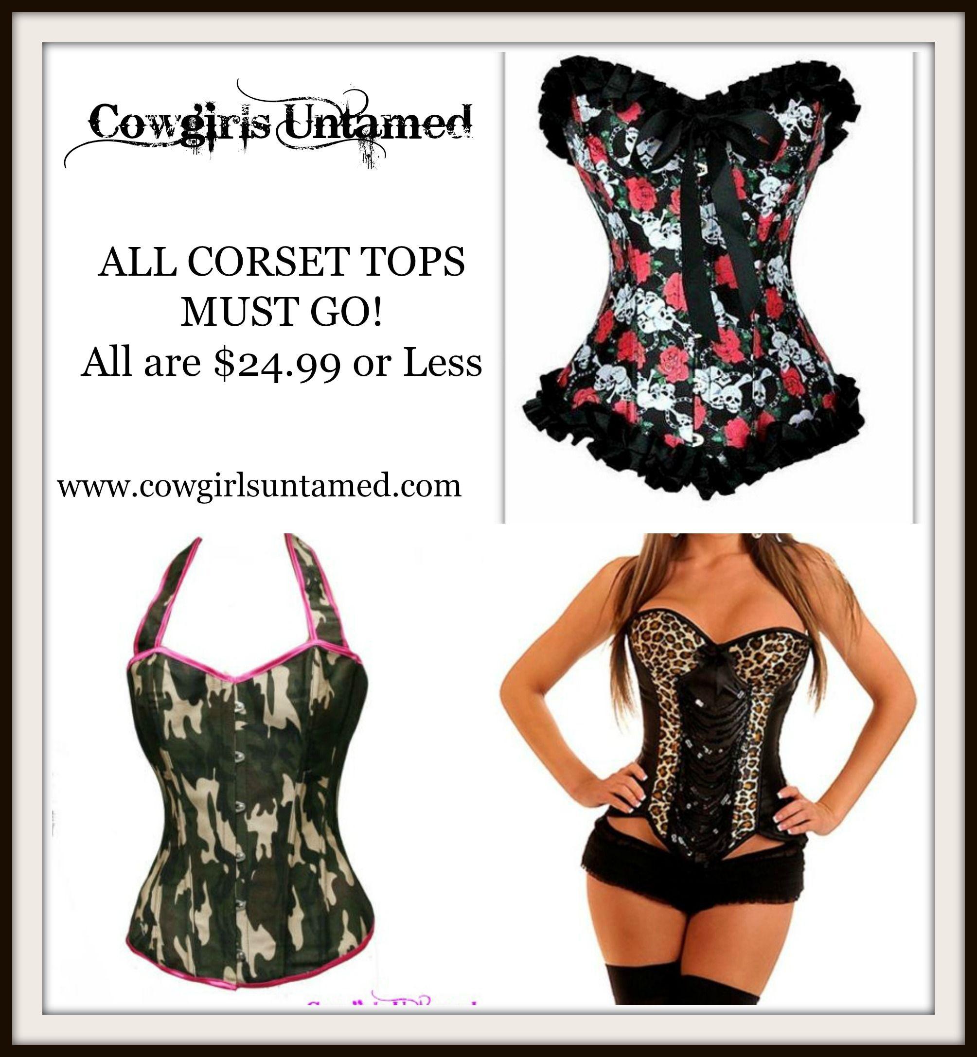 All corset tops must go all under 2499 corset top