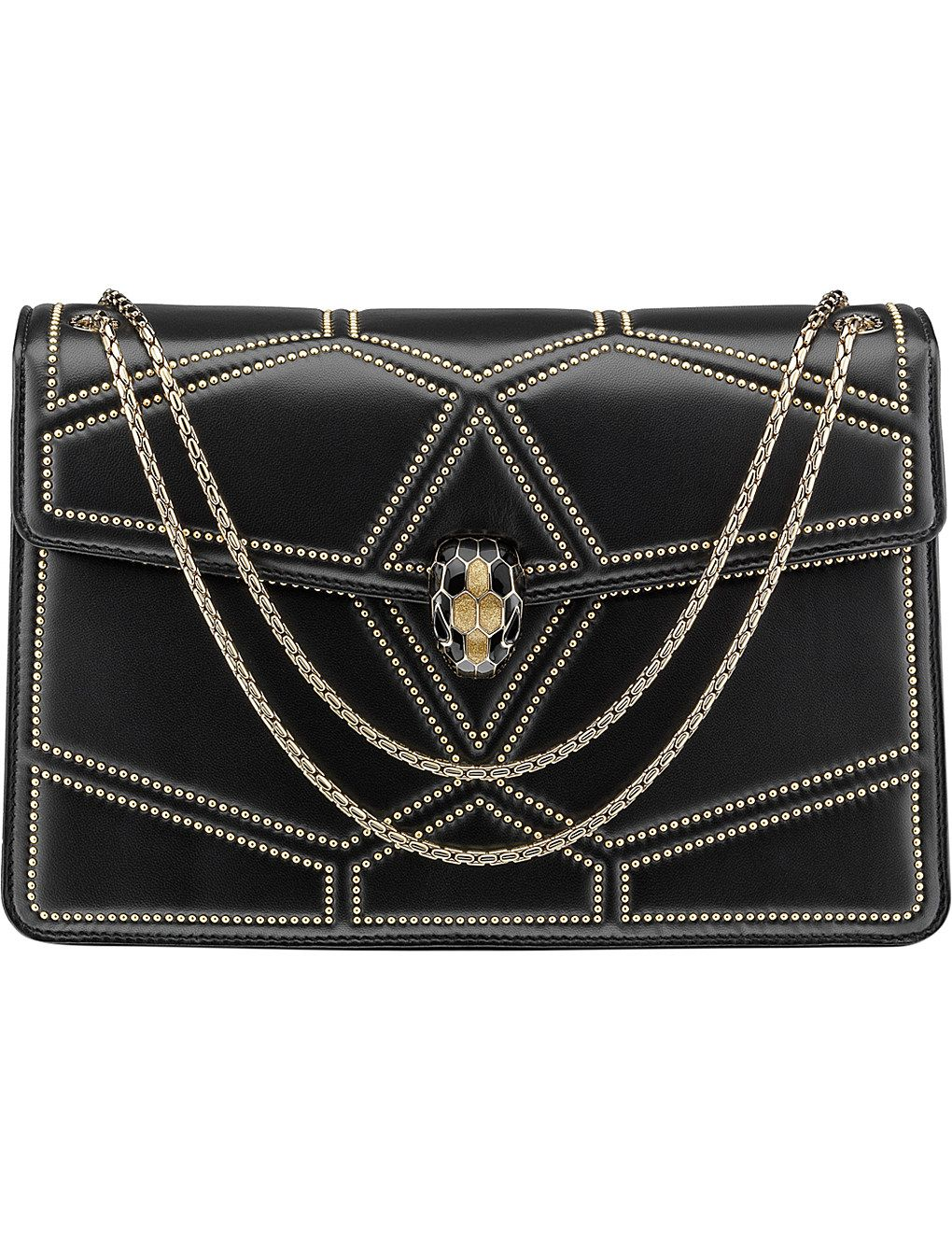 abe52d2d3dee BVLGARI Serpenti Forever studded leather shoulder bag in 2019 ...
