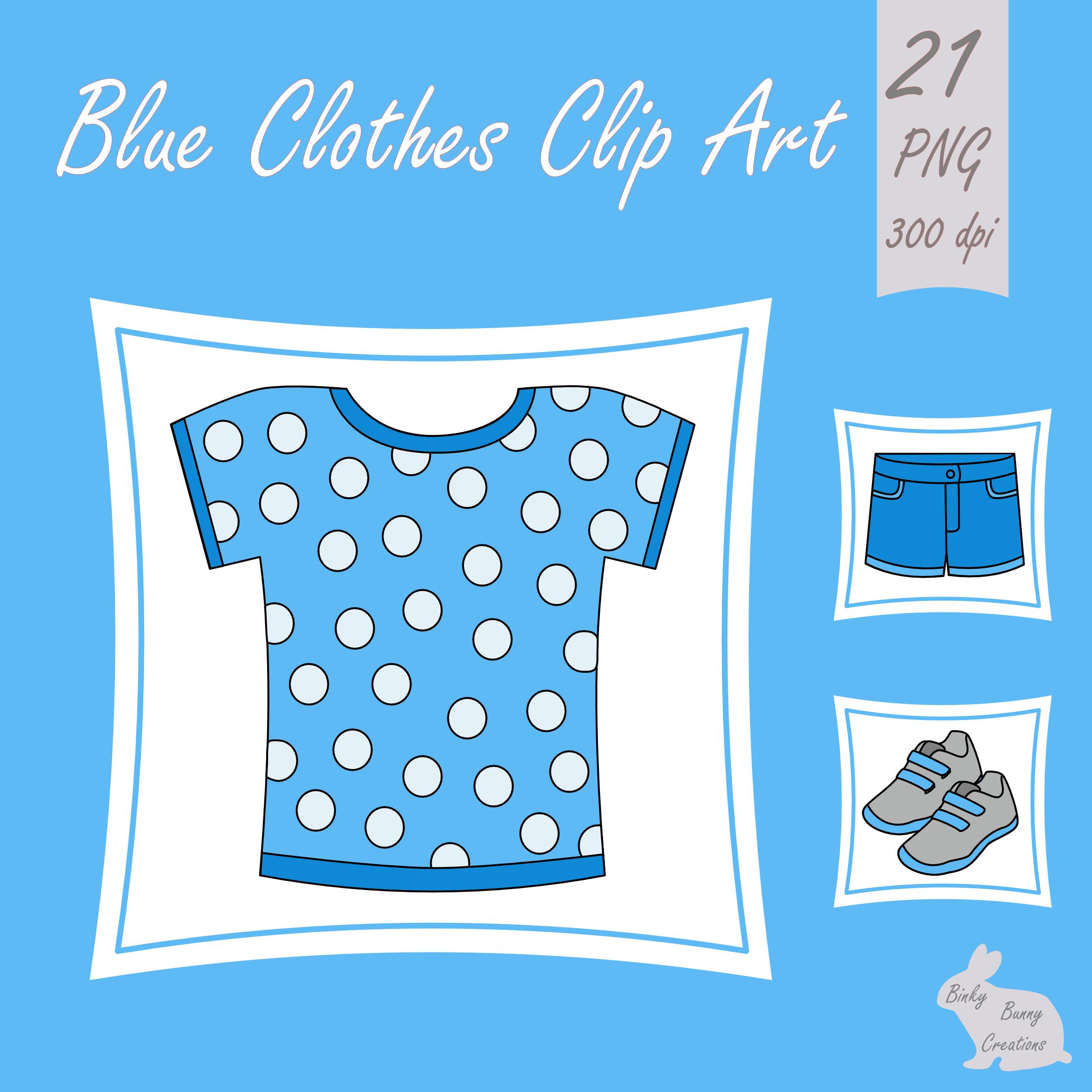 Kids Clothes Clip Art Blue Clipart Spring Summer | Clothes ...