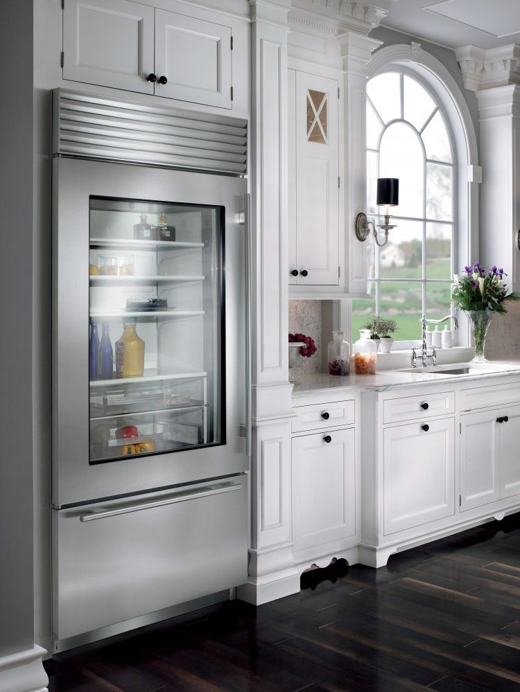 built in sub zero with see through door no more opening your refrigerator door to see what. Black Bedroom Furniture Sets. Home Design Ideas