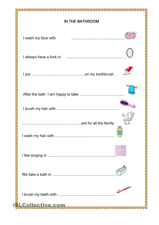 In The Bathroom Kindergarten Worksheets Printable Kindergarten Worksheets Kindergarten Worksheets Free Printables [ 1440 x 1018 Pixel ]