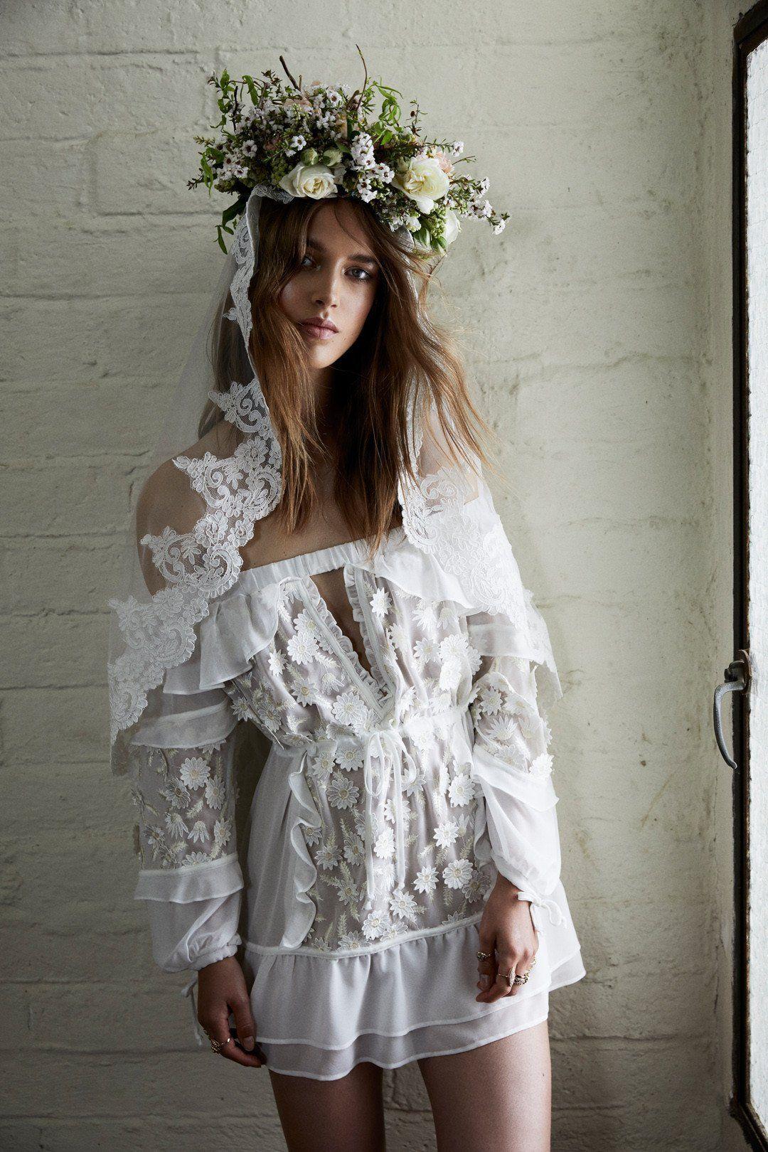 Affordable bohemian wedding dresses  CAROLINA OFF THE SHOULDER DRESS  Nice Day for a White Wedding