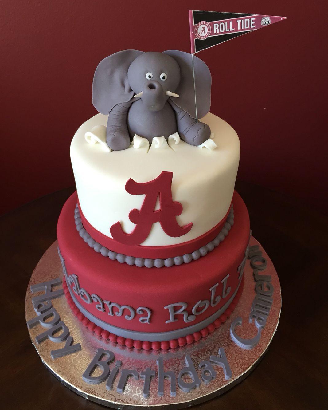Astonishing University Of Alabama Roll Tide Birthday Cake Alabama Cakes Funny Birthday Cards Online Overcheapnameinfo