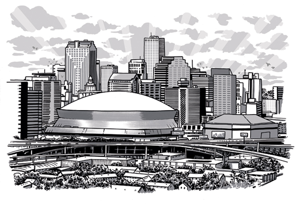 New Orleans Joel Kimmel New Orleans Skyline Skyline Drawing Architecture Concept Drawings