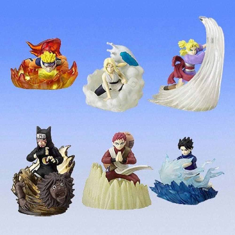 Bandai Naruto Real Collection 6 Gashapon Figure Full set of 6pcs