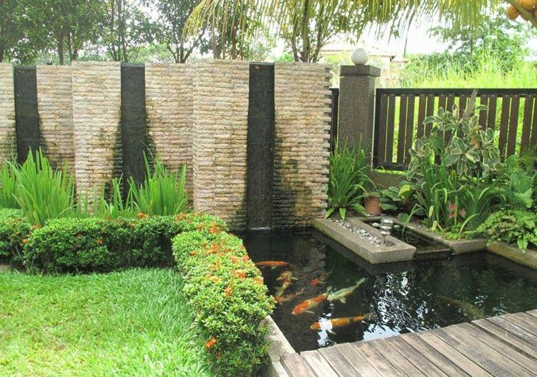 jardin moderno con estanque koi | decoracion | pinterest