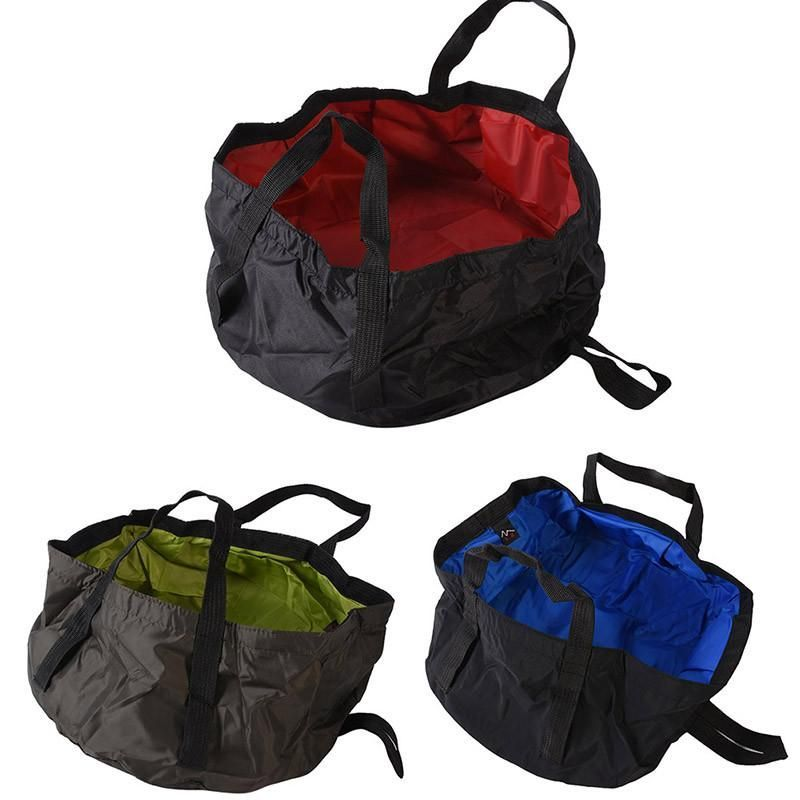 Foldable Wash Basin Sink Water Bag Portable 8.5L For Camping Hiking Outdoor