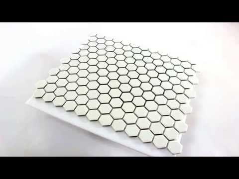 Mosaïque Céramique Hexagon Blanc Mat 23x23x4mm-HO24134m salle de