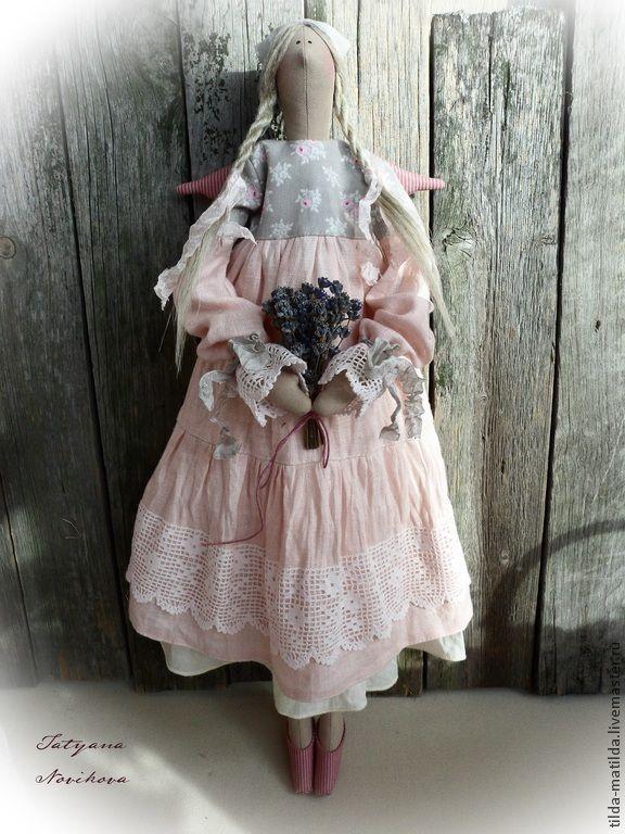 Купить Простушка из Прованса (Ангел в стиле Тильда) - бледно-розовый, зефирный, тильда, тильда ангел ♡