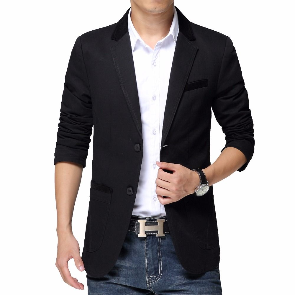6XL Men's Spring Fashion Cotton Slim Fit Blazer Designs Outerwear ...