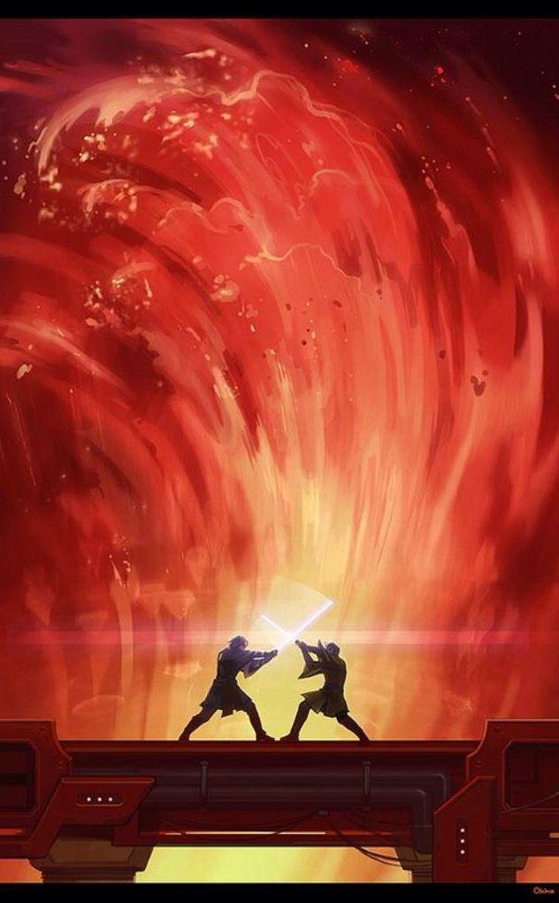 Anakin And Obi Wans Fight On Musafar