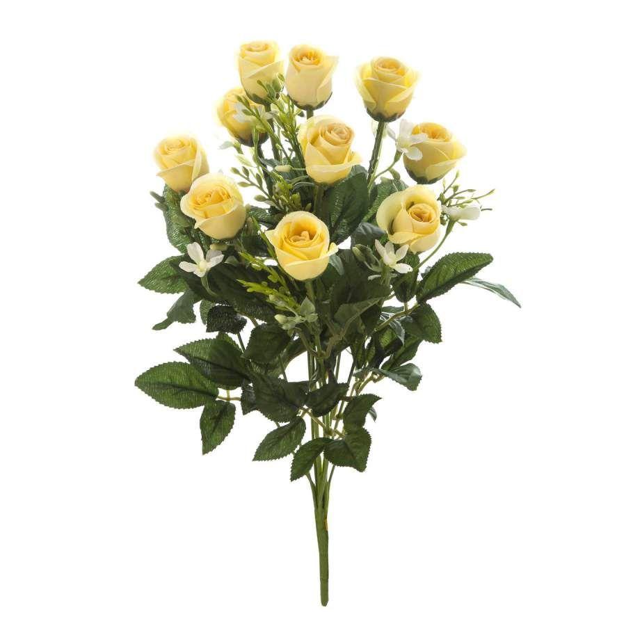 ramos flores online ramo de flores con rosas amarillas flores y hojas de