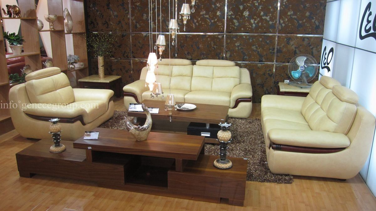 High Quality Reception Sofa Set, Villas Furniture, Hotel Lobby Leather Sofa  $1,188.00