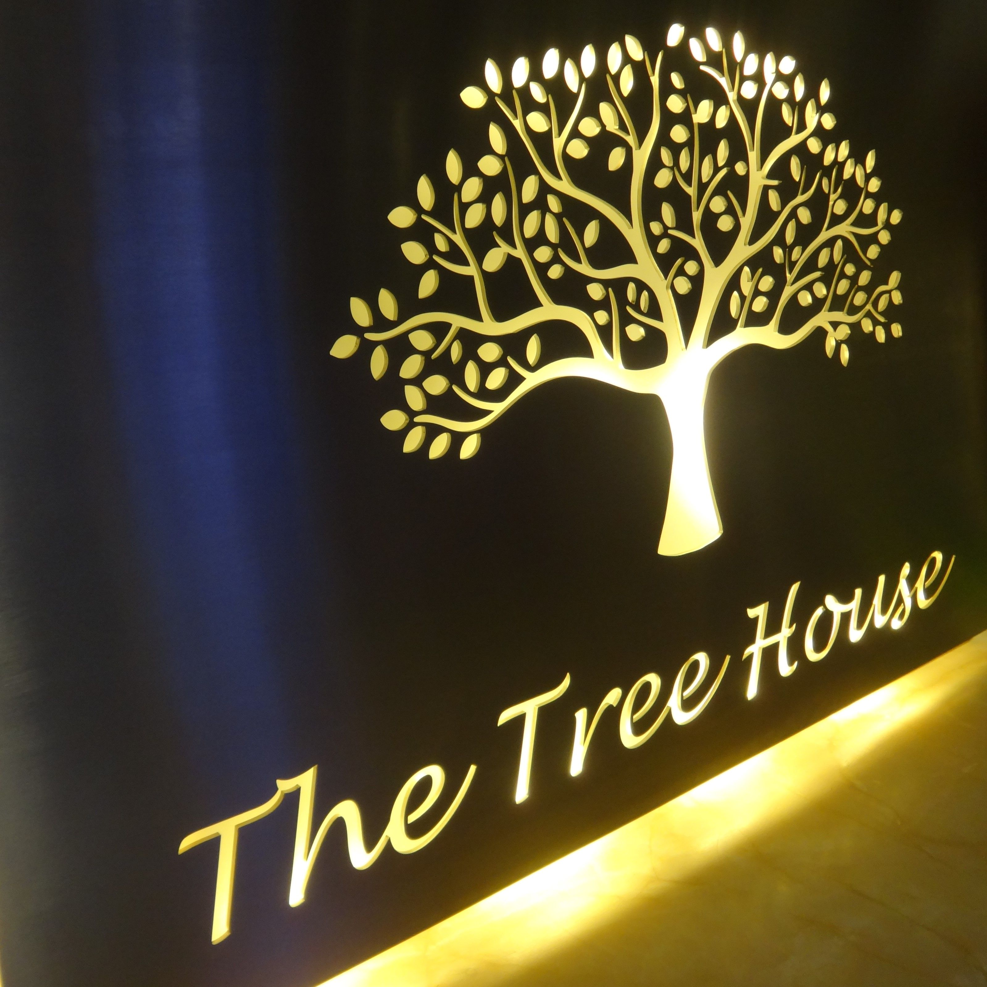 Our Stainless Steel House Name Plaques Look Stunning At Night With Back Lit Leds These Are Unique Bespoke It House Name Plaques House Names Name Plate Design