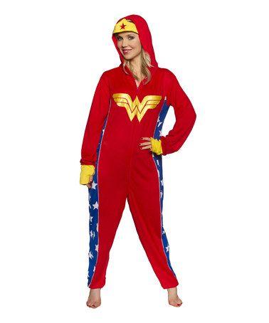 Look at this  zulilyfind! Red Wonder Woman Bodysuit Lounger - Unisex by  Underboss  zulilyfinds fc862afe0d