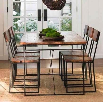Railroad Tie Dining Table And Chairs From Vivaterra Reclaimed