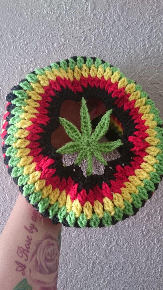 pot rasta beanie by thetexanhippie on Etsy | Crochet | Pinterest