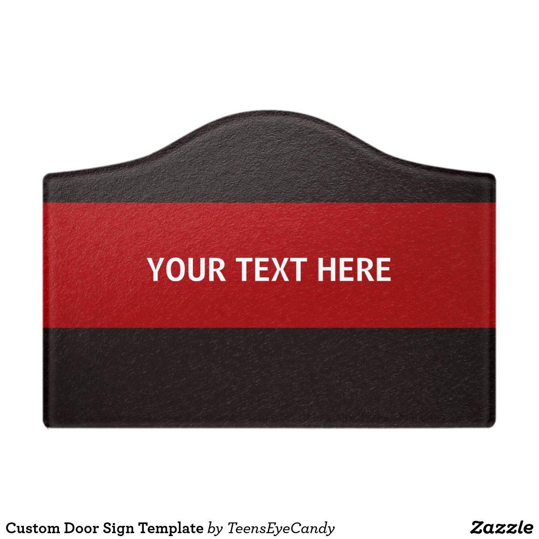 Custom Door Sign Template | Door signs, Doors and Template
