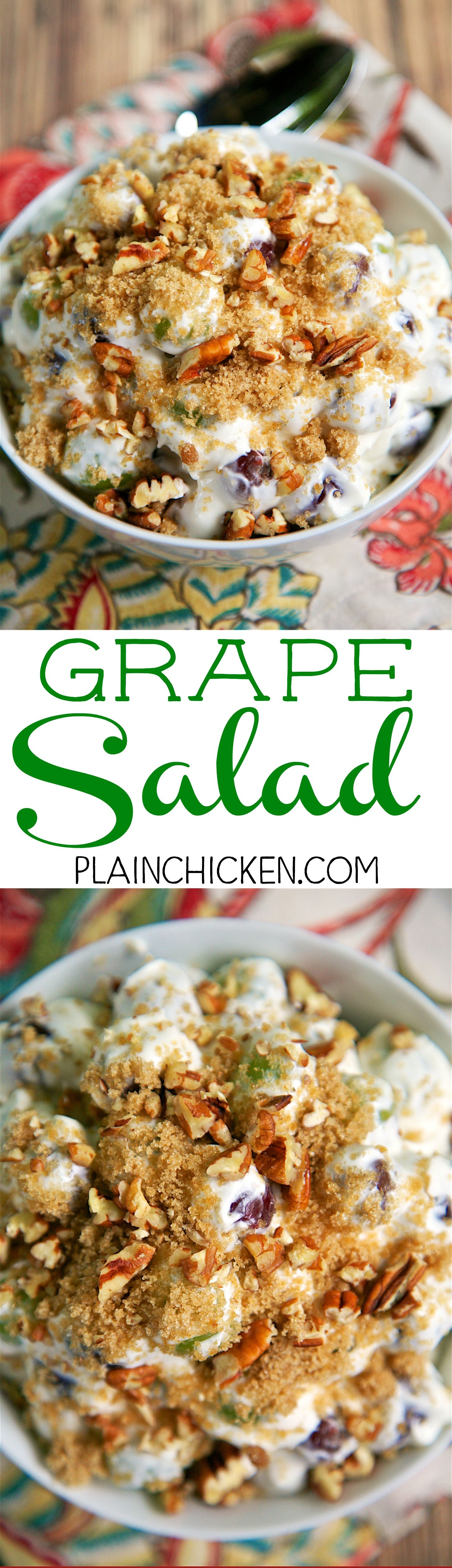 Copycat Chicken Salad Chick Grape Salad This Stuff Is Like Crack It Is So