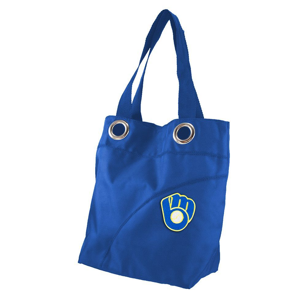 Milwaukee Brewers MLB Color Sheen Tote (Royal)