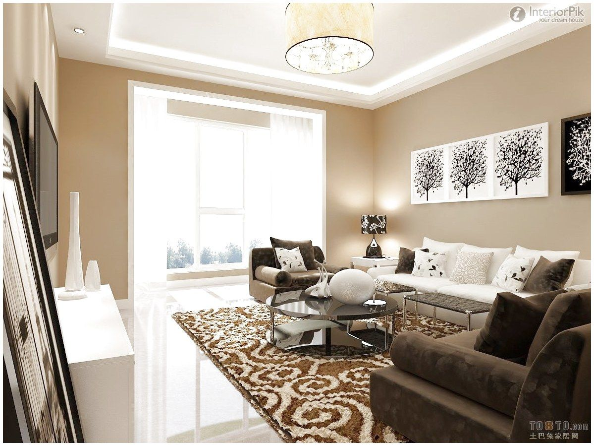 White Furniture White Brown Sofa Furniture Living Room Decorating