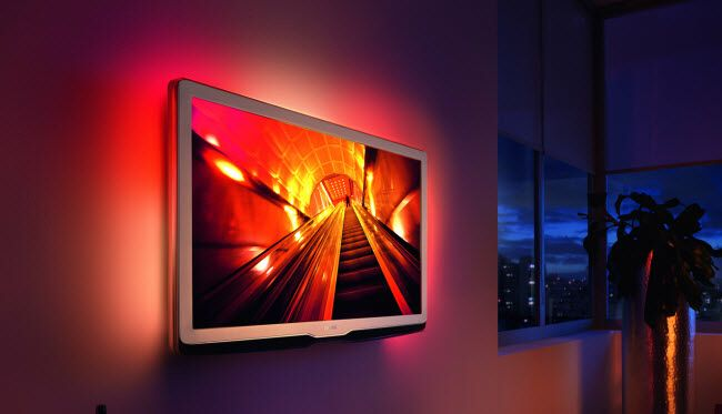 Philips ambilight   Sport Retail Project   Tv backlight, Wall