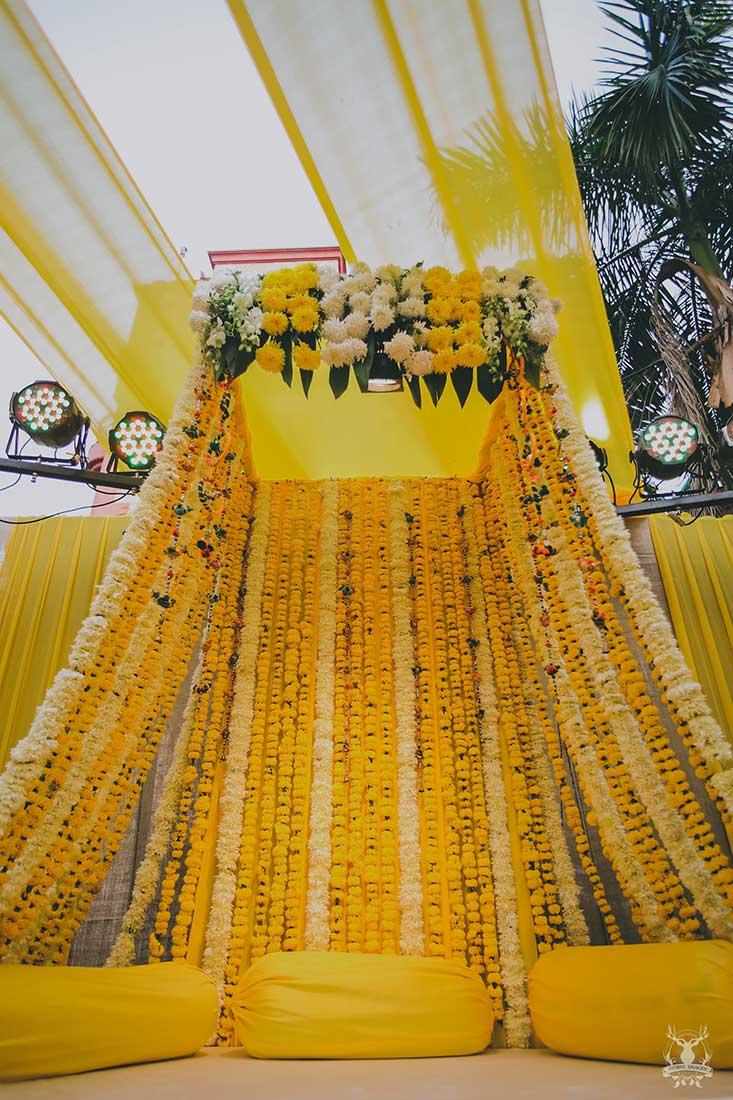 Background Haldi Ceremony Decoration