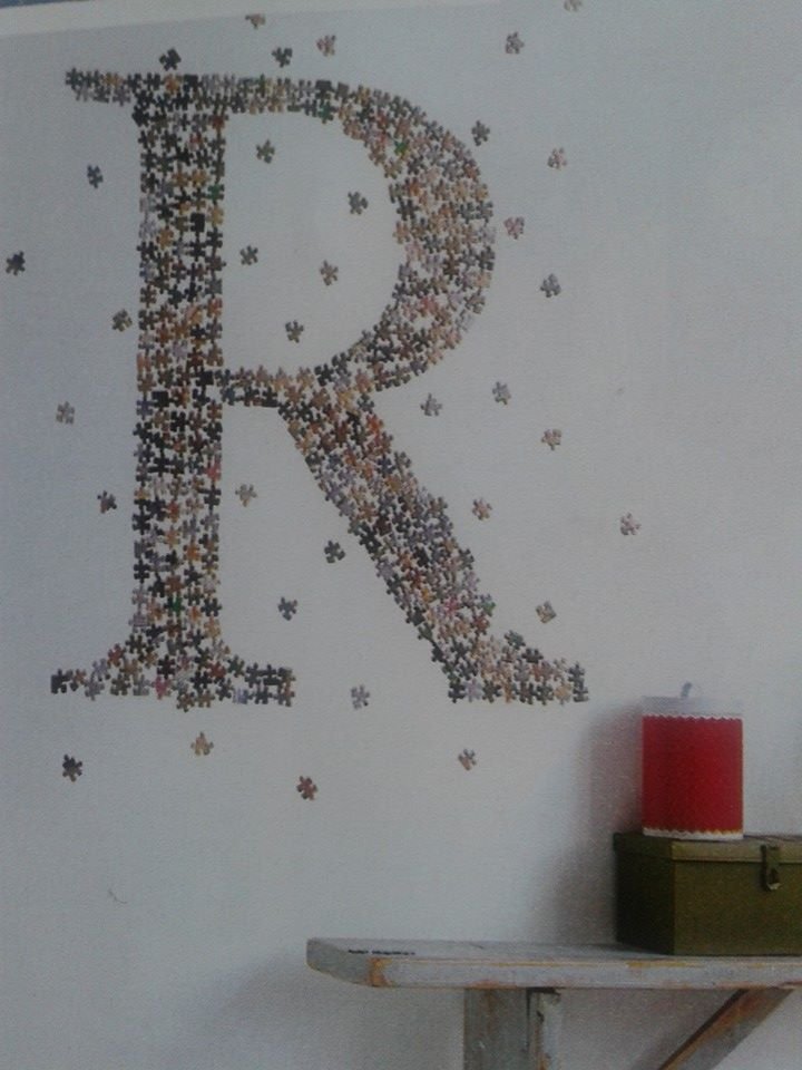 Idea for recycling puzzle pieces