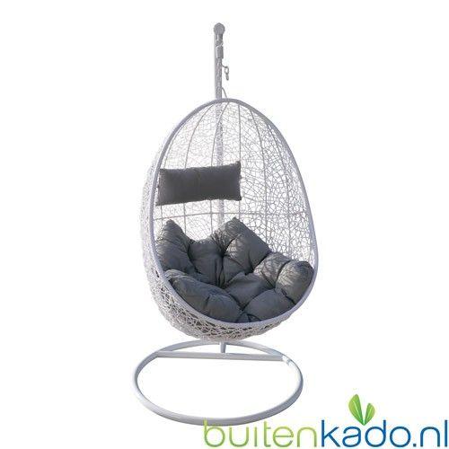 Egg Chair Met Standaard.Hangstoel Egg Chair Wit Hangstoel Hanging Chair Chair En Home Decor